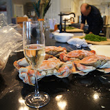 Crabs and champagne