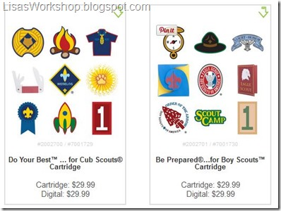 Cricut Scout Cartridge - coupon codes at Lisa's Workshop