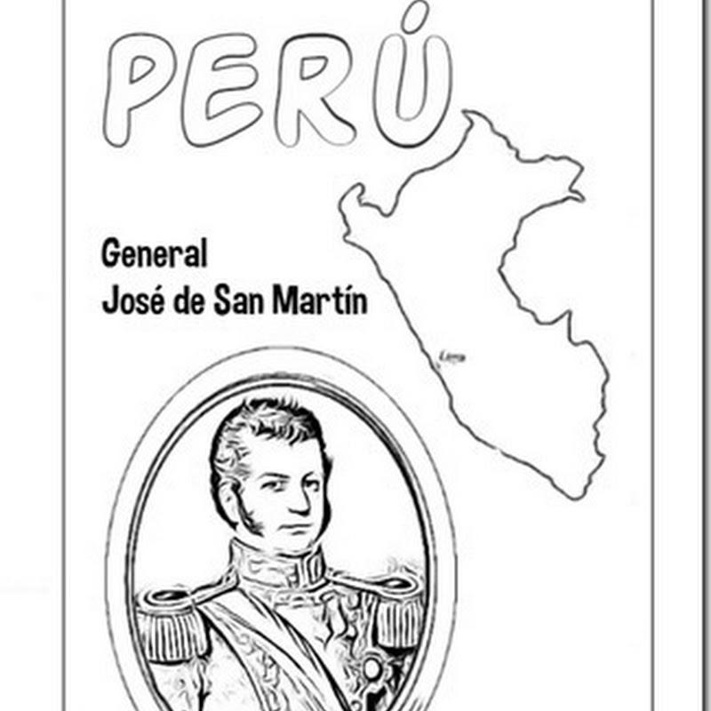 Perú colorear dibujos del libertador San Martín
