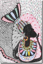 426 Zentangle African Woman