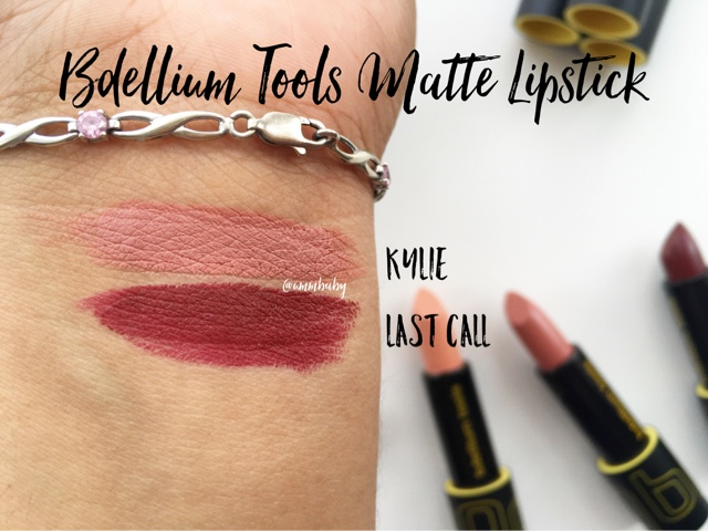 NC40 swatches bdellium tools matte lipsticks kylie, last call