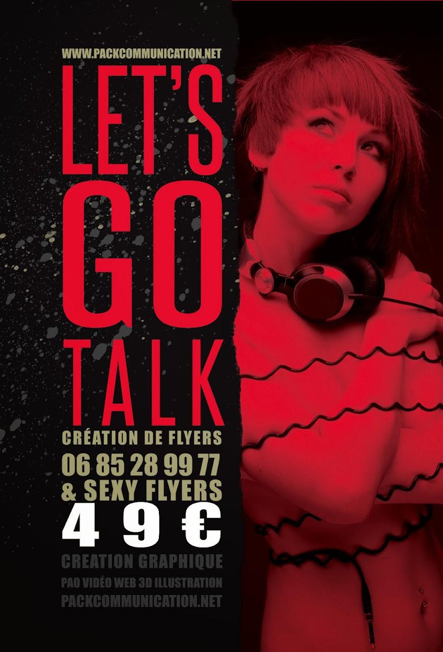 création flyers soirées thème Let's Go Talk