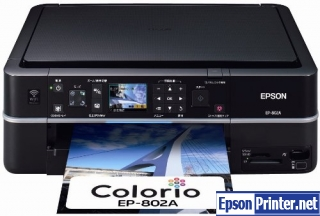 How to reset Epson EP-802A printer