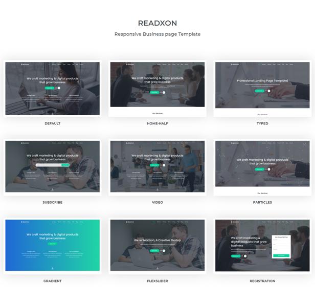 Readxon - Landing Page Template - 1