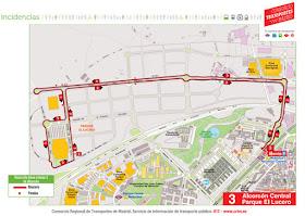 Nueva línea de autobuses al poligono industrial del Parque El Lucero en Alcorcón