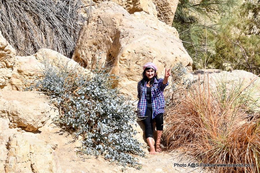 На экскурсии в Израиле в заповеднике Эйн-Геди.