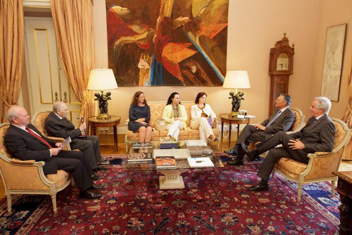 Cavaco Silva recebeu Comissão Organizadora das Comemorações do Dia de Portugal