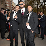 OIC - ENTSIMAGES.COM - Owais Khan, Anj Baig and Moses Baig at the The 5th Annual Asian Awards 2015 in London 17th April 2015 Photo Mobis Photos/OIC 0203 174 1069