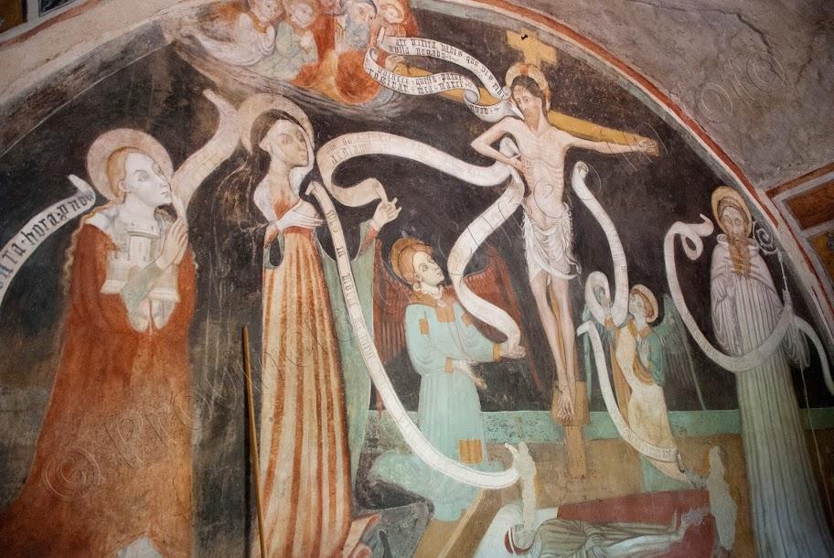 fotografie Affreschi Cappella di San Bernardo delle Forche a Mondovì