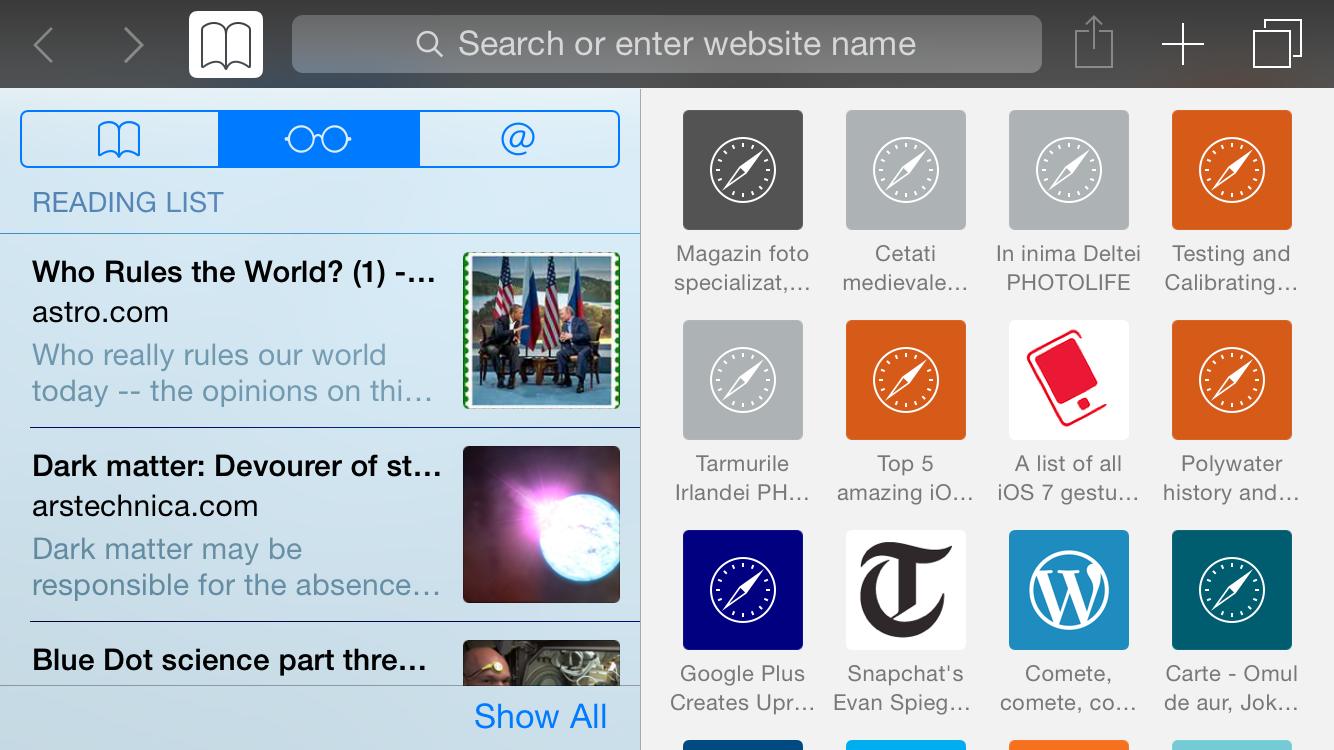 iOS 8: mobile Safari in landcape mode