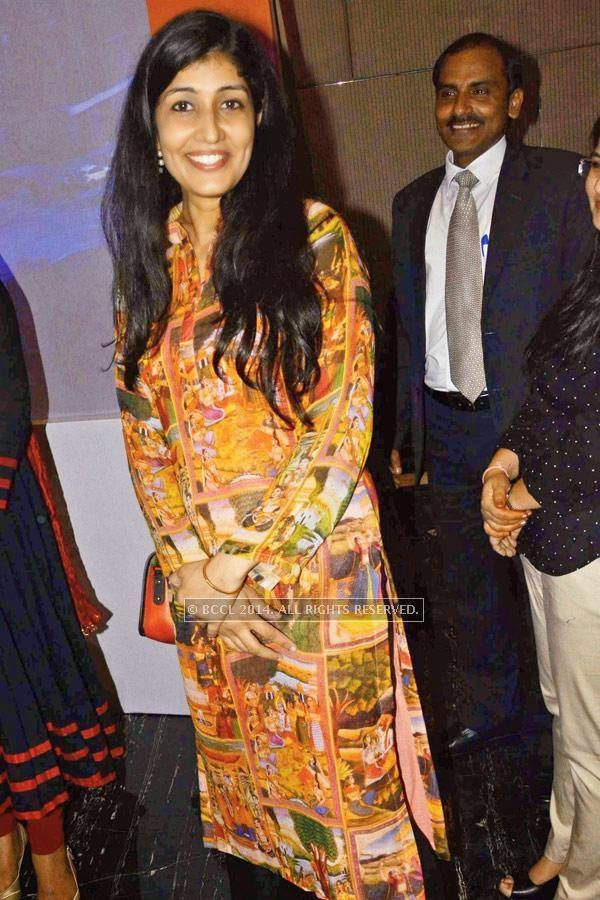 Ruchika during the launch of SS Group's upcoming project, Omnia, in Gurgaon.<br />