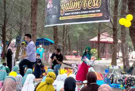 Alumni PPA LC Padang Adakan YATIM FEST di Objek Wisata Pantai Tiram Tapakih