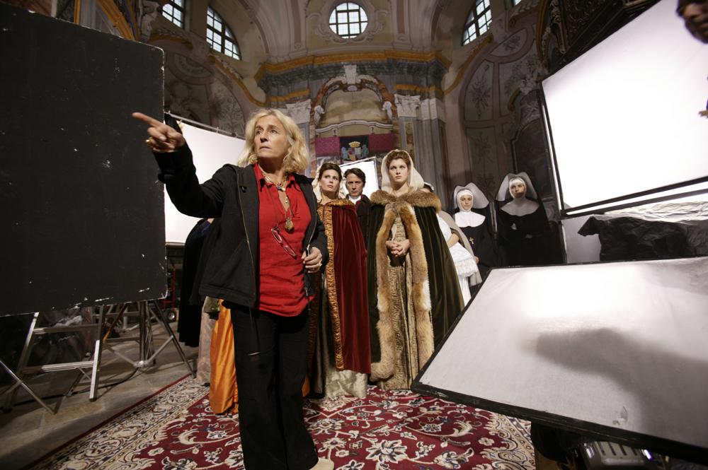 Cinzia TH Torrini sul set di Elisa di Rivombrosa