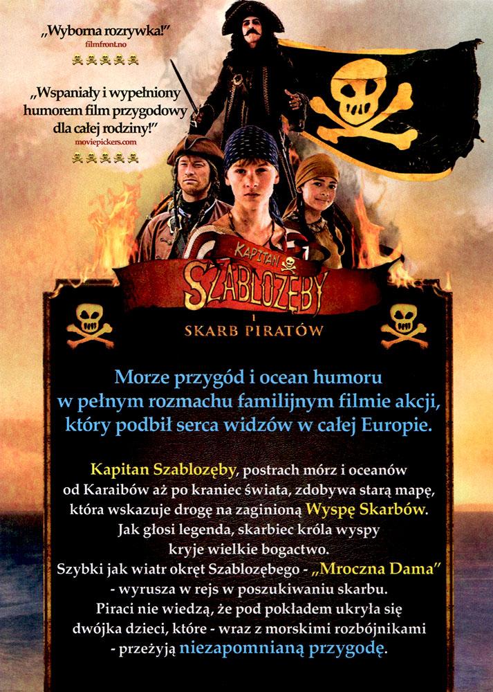 Ulotka filmu 'Kapitan Szablozęby i Skarb Piratów (przód - wersja B)'