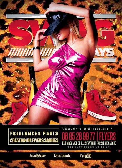 création flyers soirées thème Hot Fridays