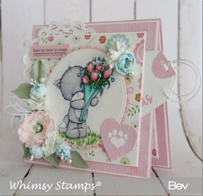 Bev-Rochester-whimsy-kitten-flowers2
