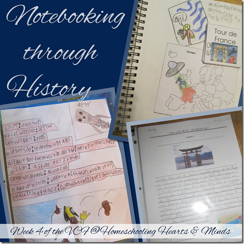 Notebooking Through History, how we do it at Homeschooling Hearts & Minds