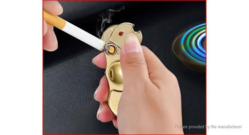 8255500 12 thumb%255B2%255D - 【スピナー/フィジェット】「2-in-1 USB充電式シガレットライターフィジェットハンドスピナー」レビュー。回すだけじゃなくて光る&電子ライターにも。父の日のプレゼントに最適