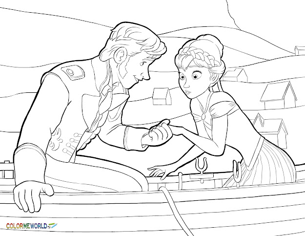 Frozen Coloring Pages  Free Printable Frozen Pdf Coloring Sheets For Kids