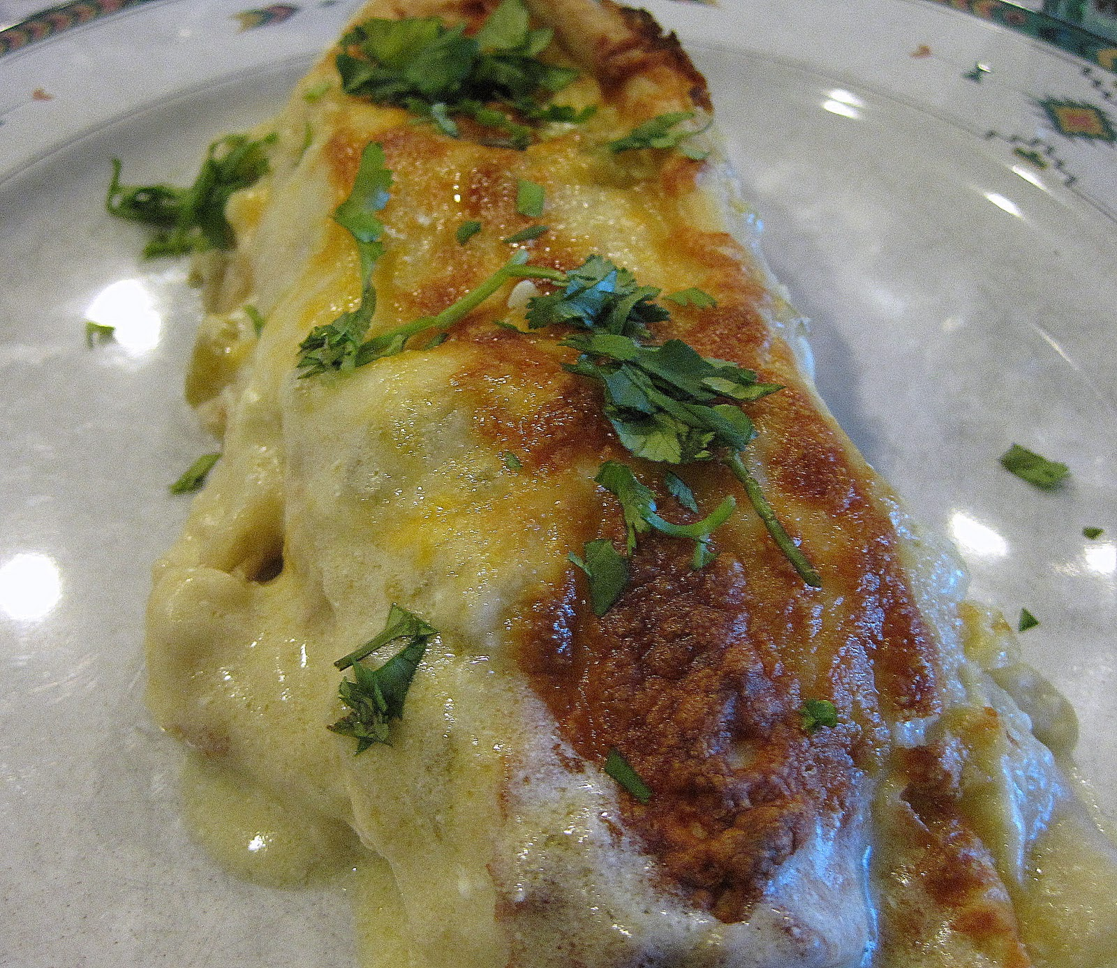 Chicken Enchiladas with Green Chile Sour Cream Sauce • Food, Folks ...