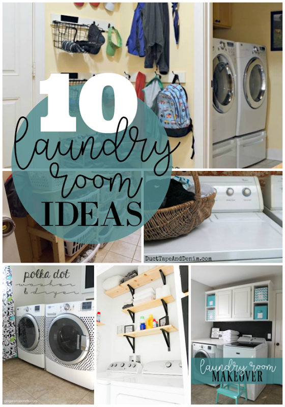 10 Laundry Room Ideas at GingerSnapCrafts.com #laundry #laundryroom #forthehome