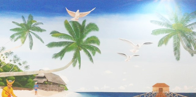 Karya Lukisan Mural Pantai Terkeren