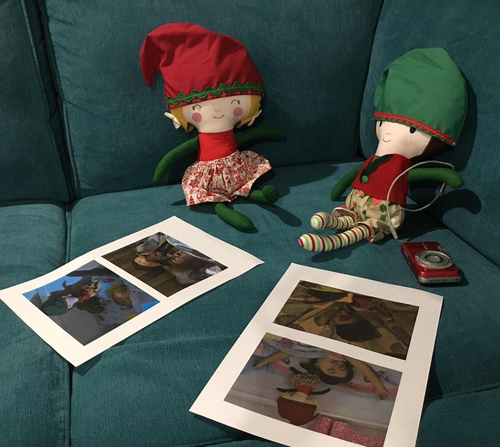 Elf on the shelf sleeping selfies