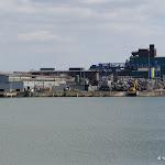 Zone industrielle : darse et aciérie