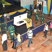 PM Thompson lay in state at Combermere School