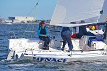 J/70 sailing with woman skipper