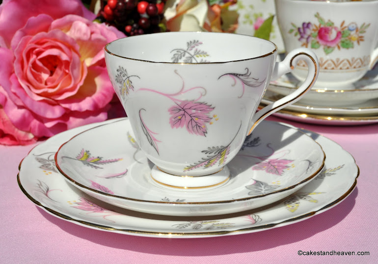 Tuscan Windswept Vintage China Teacup Trio c.1947+