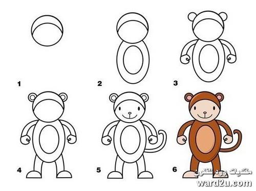 رسم الحيوانات بطريقه مبسطة للاطفال