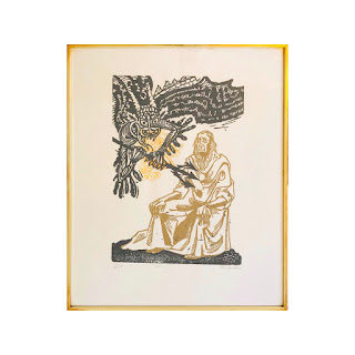 Erwin Schachner Signed Woodblock Print