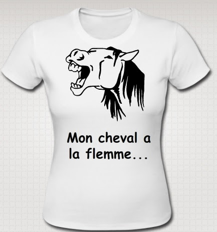 Nos propres t-shirts.... Chevalflemme
