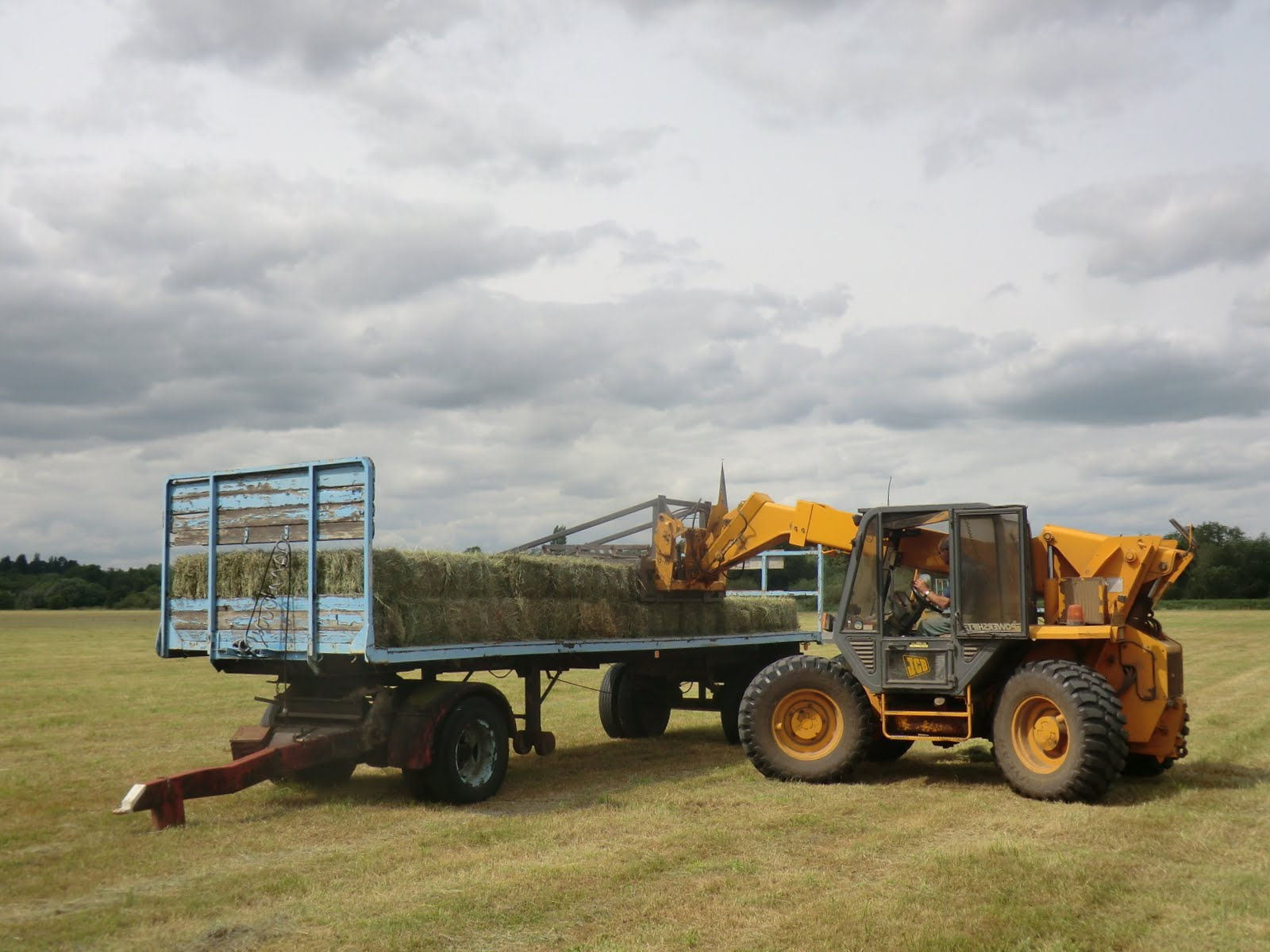 CIMG8924 Hay making on Hemingford Grey Meadow
