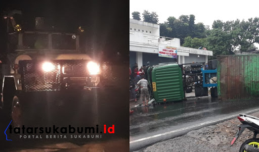 inilah korban tabrakan Kontainer vs Mobil Boks di Sukabumi