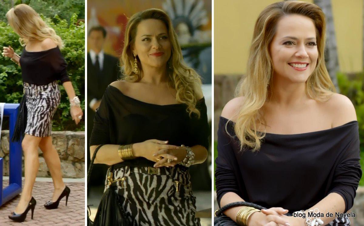 moda da novela Em Família - look da Shirley dia 18 de junho