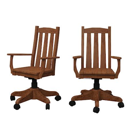 Savoy Office Chair in Vermont Maple