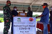 Kodam Iskandar Muda Terima Bantuan APD dari Yayasan Leuser Internasional