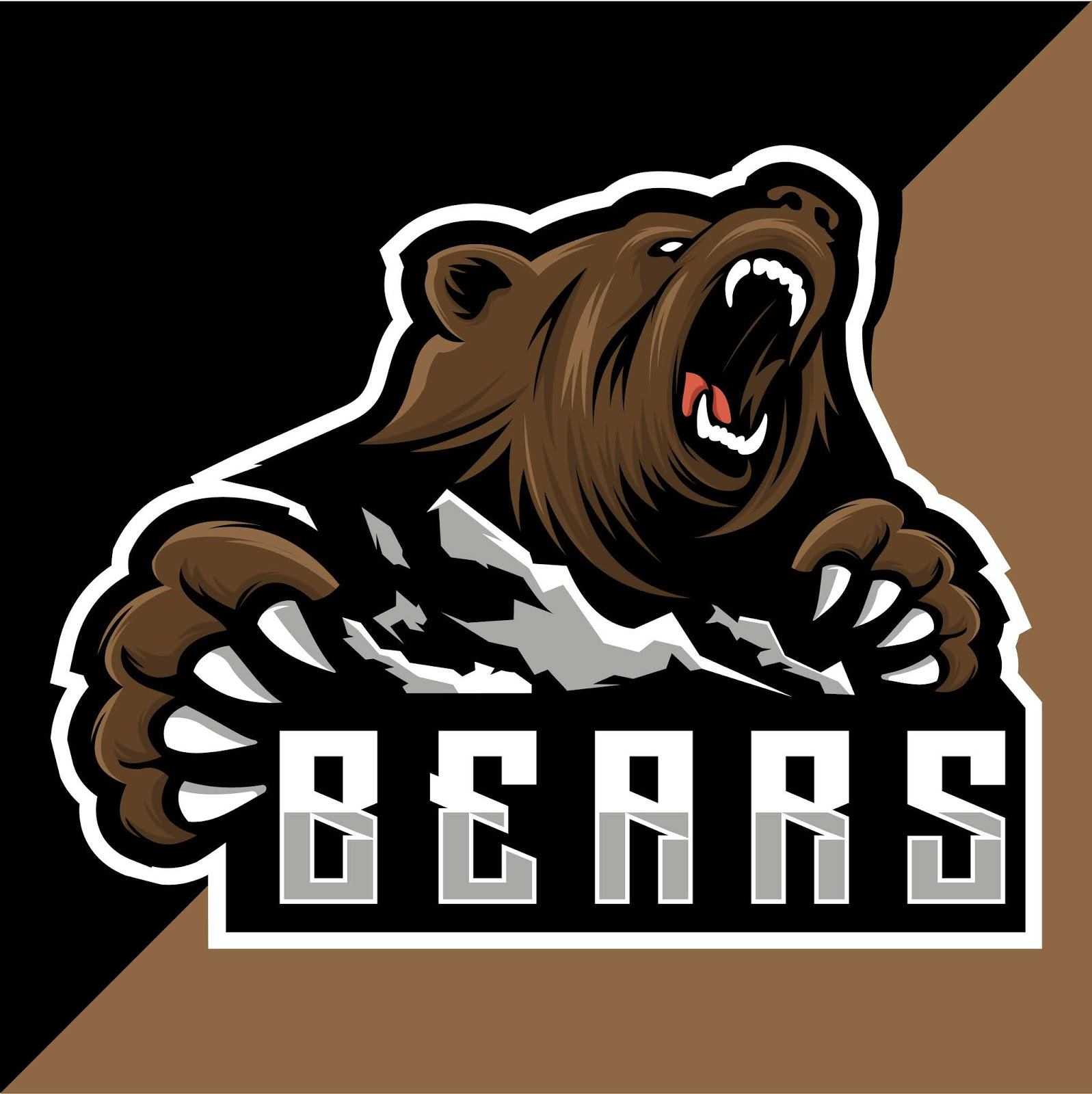 Bear Mountain Esport Logo Free Download Vector CDR, AI, EPS and PNG Formats