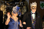 Era Lee and Harry Caldwell, formerly of Southlake, enter the ball. The two reigned as queen and king of the 2008 ball.