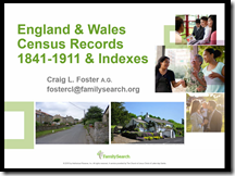 England & Wales Census Records 1841-1911 & Indexes