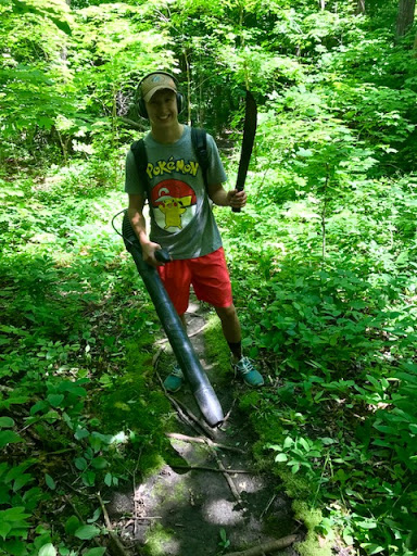 Brushing and clearing trail!