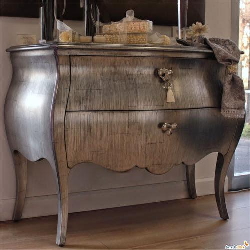 6 commodes baroques argent es. Black Bedroom Furniture Sets. Home Design Ideas