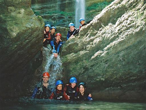 Canyon de la cascade de l'Alloix, massif de la Chartreuse