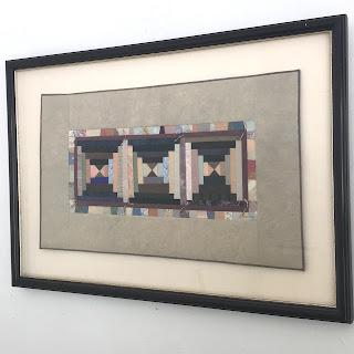 Lucinda Carlstrom Signed Textile/ Paper Art