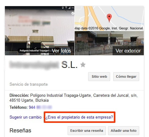 Control Ficha Google My Business Conquista internet