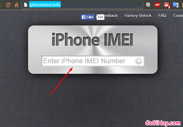 Kiểm tra iPhone qua IMEI
