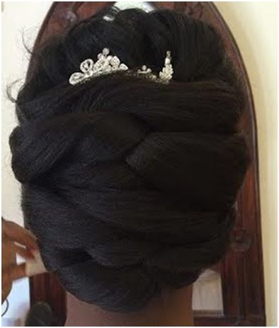 Hair:Wedding Hairstyles ForThe owners of dark skin 2017 1