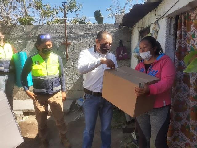 Inicia CEPC entrega de insumos a familias  vulnerables por temporada invernal